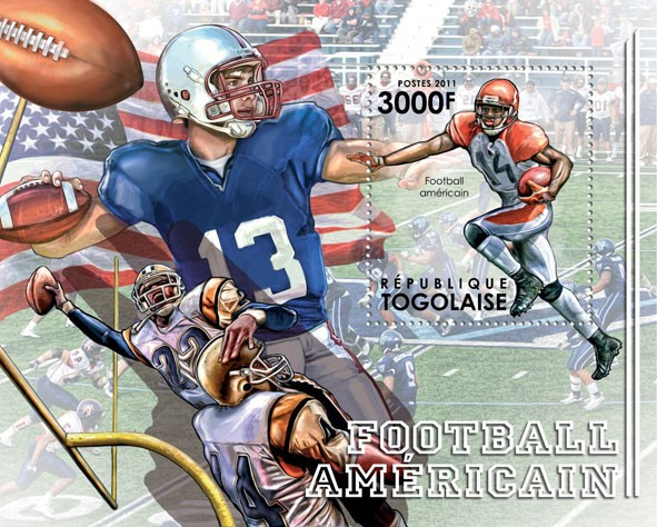 American Football. - Issue of Togo postage stamps