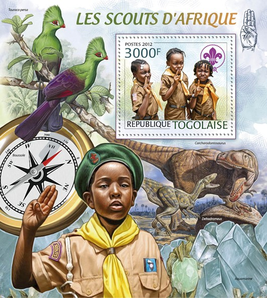 Scouts of Africa, (Minerals & Birds). - Issue of Togo postage stamps