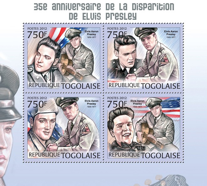 Elvis Presley (1935-1997) - Issue of Togo postage stamps