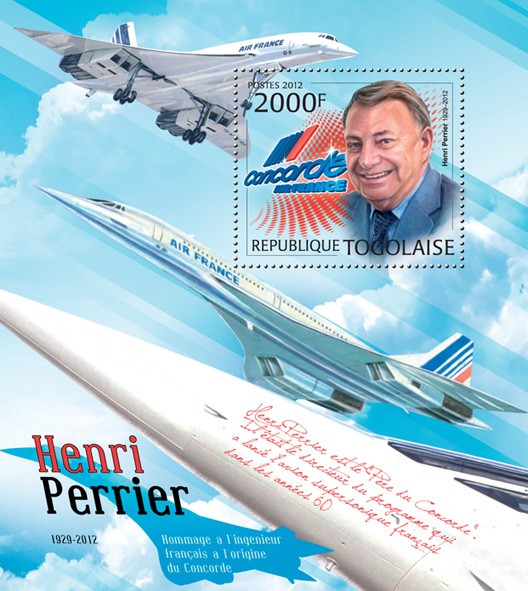 Henri Perrier. Concorde (1929-2012) - Issue of Togo postage stamps