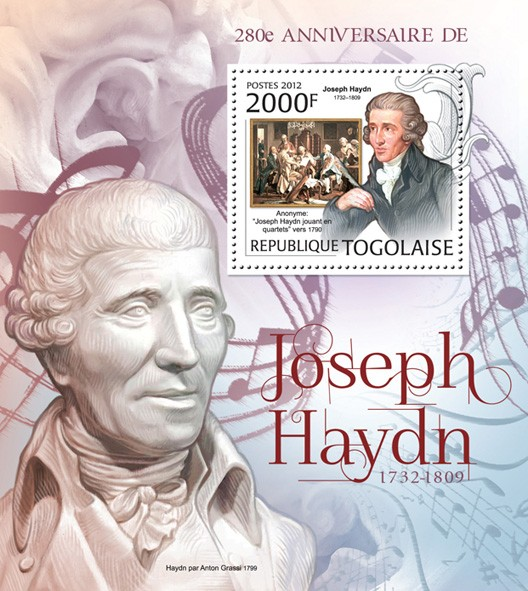 Joseph Haydn (1732-1809) (Paintings) - Issue of Togo postage stamps