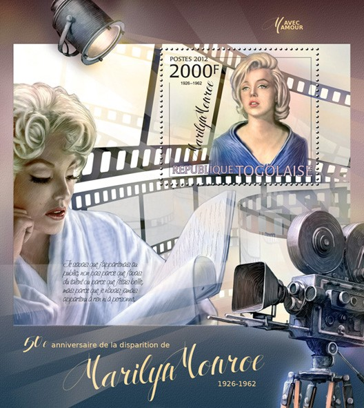 Marilyn Monroe (1926-1962) - Issue of Togo postage stamps