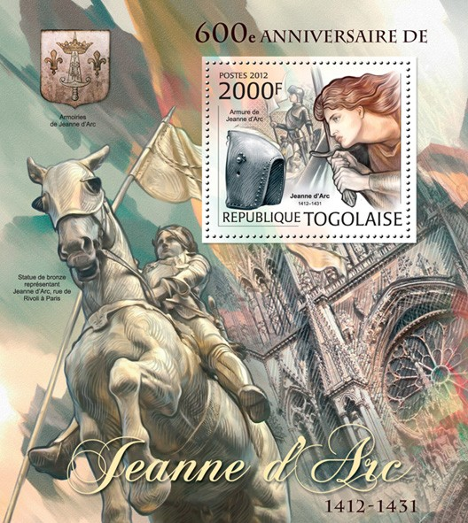 Joan of Arc (600th Anniversary) - Issue of Togo postage stamps