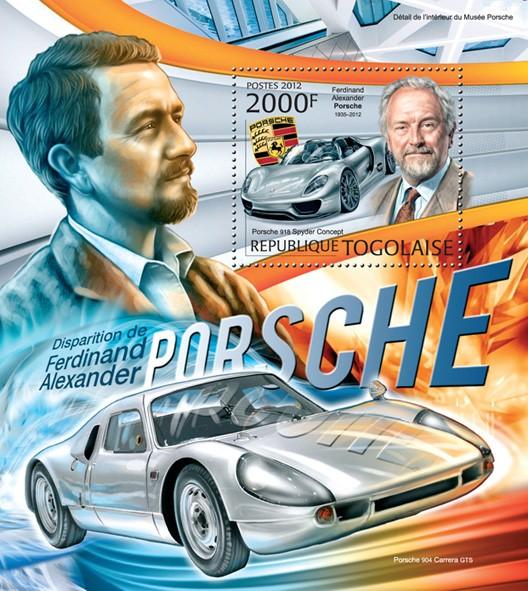 Ferdinand Alexander Porsche (Porsche 918 Spyder Concept) - Issue of Togo postage stamps