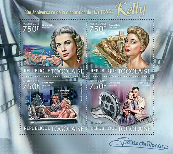 Grace Kelly (30th Anniversary of the death) - Issue of Togo postage stamps
