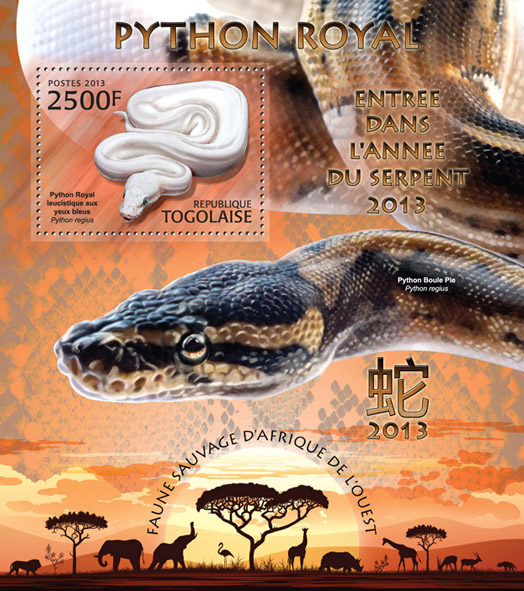 Python  - Issue of Togo postage stamps