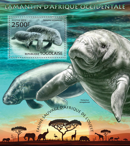 Manatee - Issue of Togo postage stamps