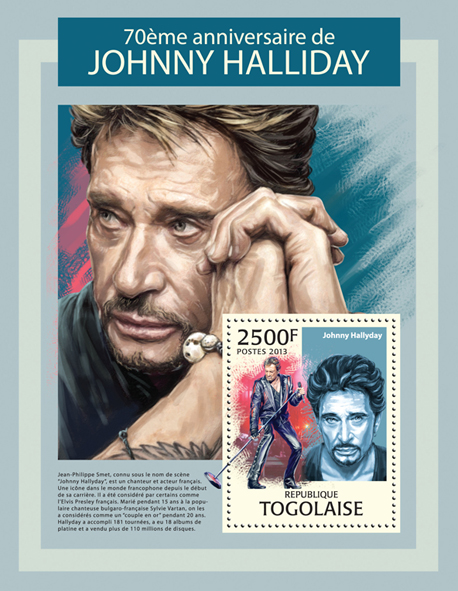 Johnny Halliday - Issue of Togo postage stamps
