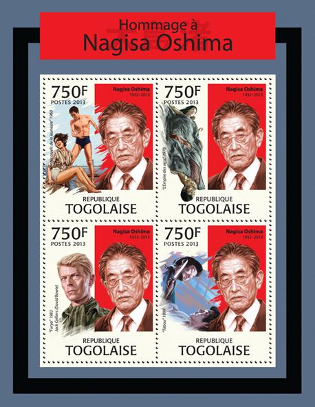 Nagisa Oshima - Issue of Togo postage stamps