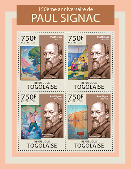 Paul Signac - Issue of Togo postage stamps