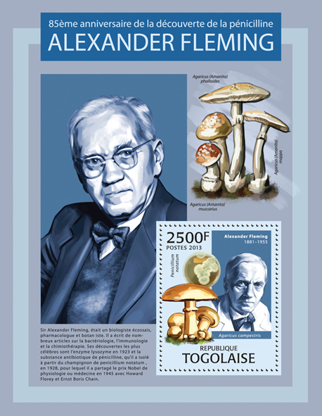 Alexander Fleming - Issue of Togo postage stamps