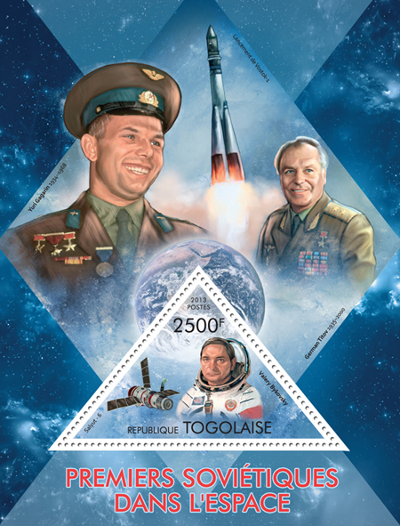 First Soviet astronauts in space - Issue of Togo postage stamps
