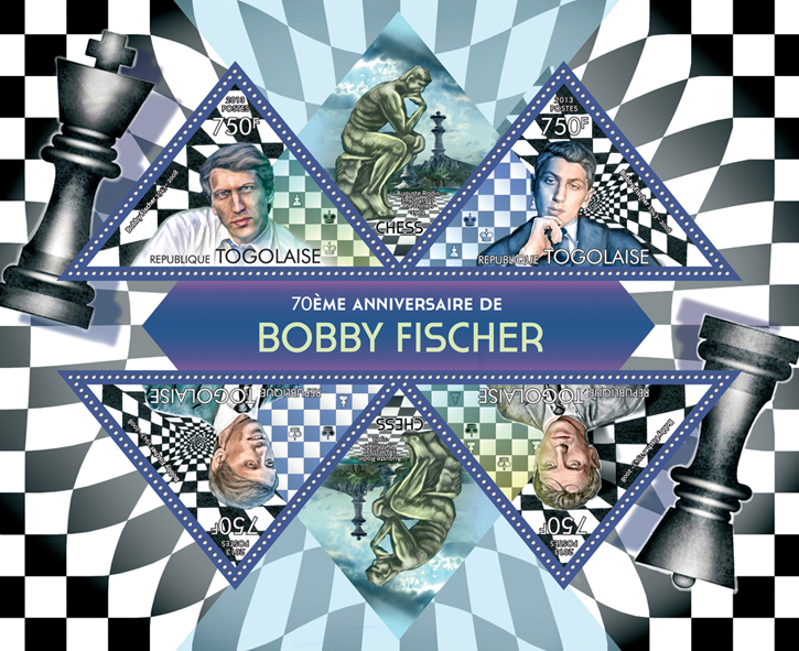 Bobby Fisher - Issue of Togo postage stamps