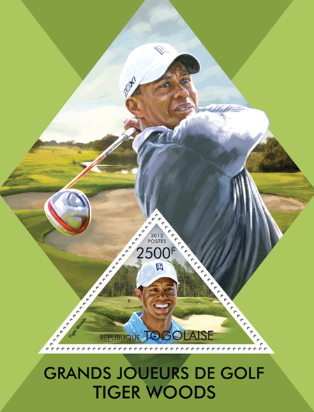 Great golfers - Issue of Togo postage stamps