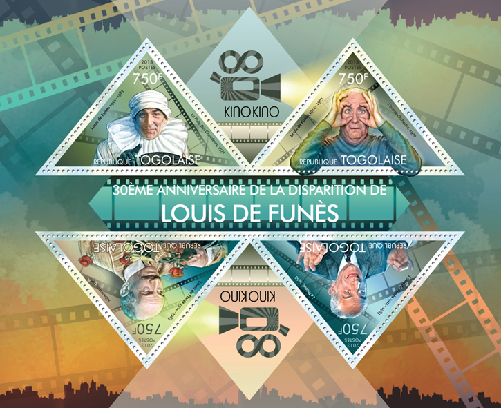 Luis de Funes - Issue of Togo postage stamps