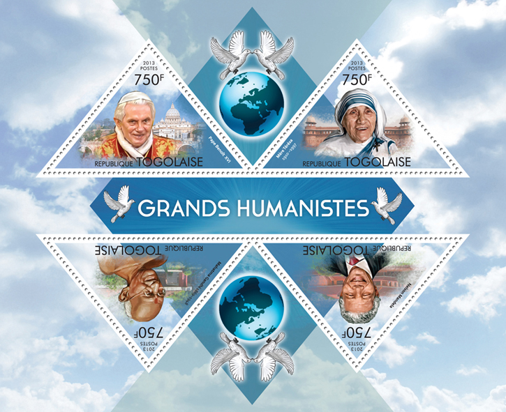Great humanist - Issue of Togo postage stamps