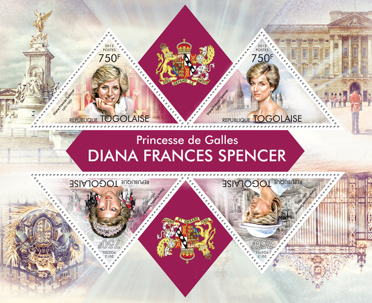 Diana Frances Spencer - Issue of Togo postage stamps
