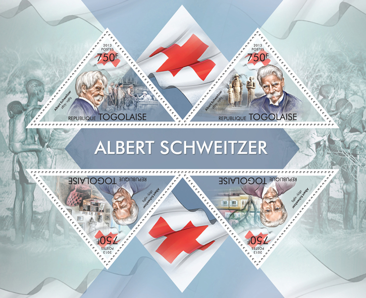 Albert Schweitzer - Issue of Togo postage stamps