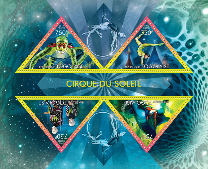 Cirque Du Soleil - Issue of Togo postage stamps