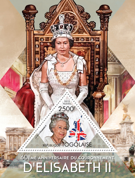Queen Elizabeth II - Issue of Togo postage stamps