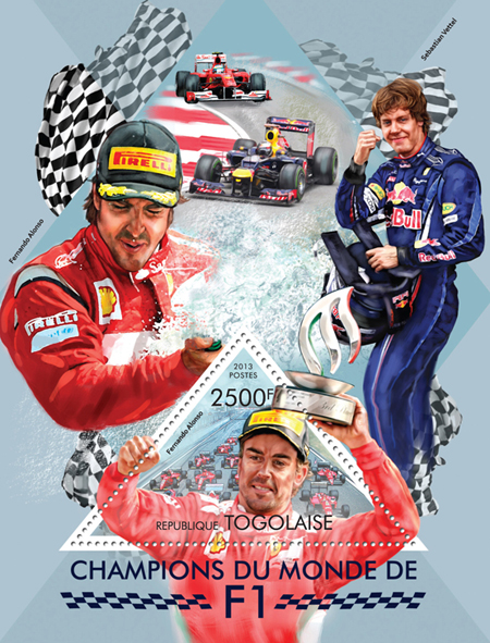 Formula 1 - Issue of Togo postage stamps