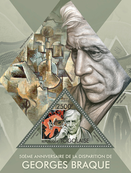 Georges Braque - Issue of Togo postage stamps