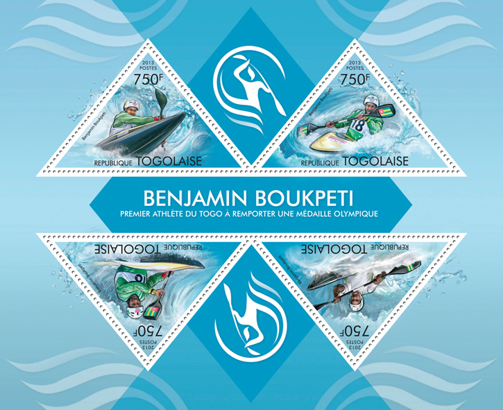 Benjamin Boukpeti - Issue of Togo postage stamps