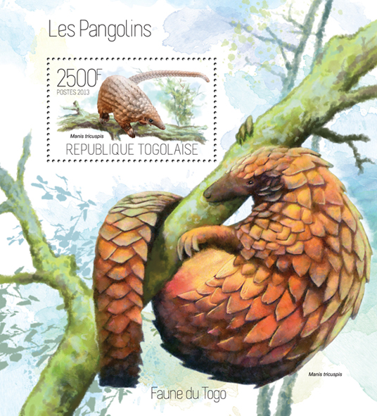 Pangolins - Issue of Togo postage stamps