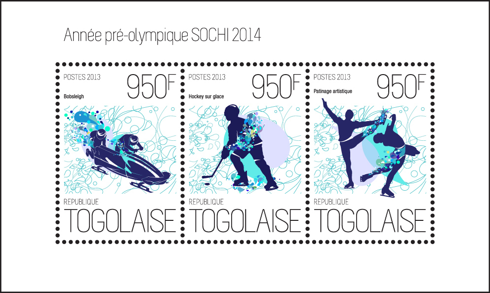 Sochi 2014 - Issue of Togo postage stamps