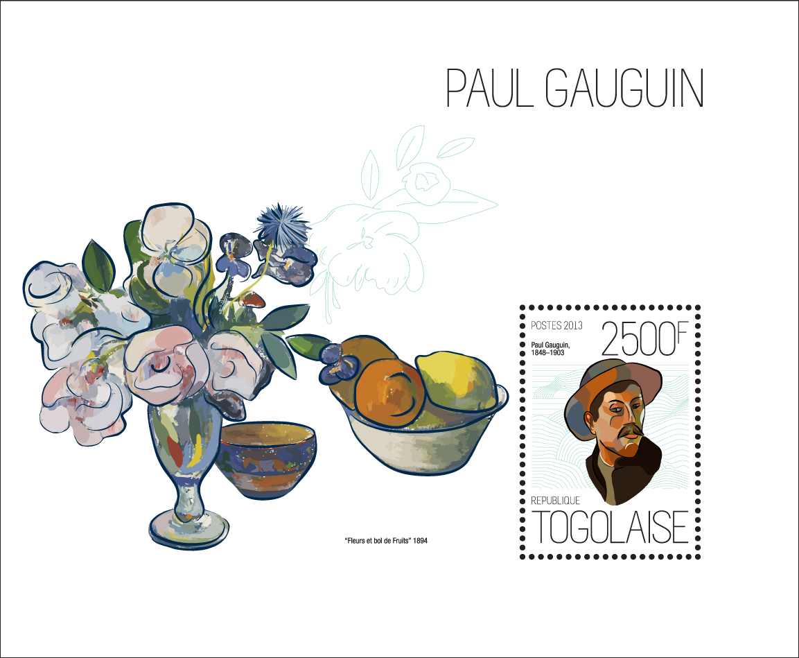 Paul Gauguin - Issue of Togo postage stamps