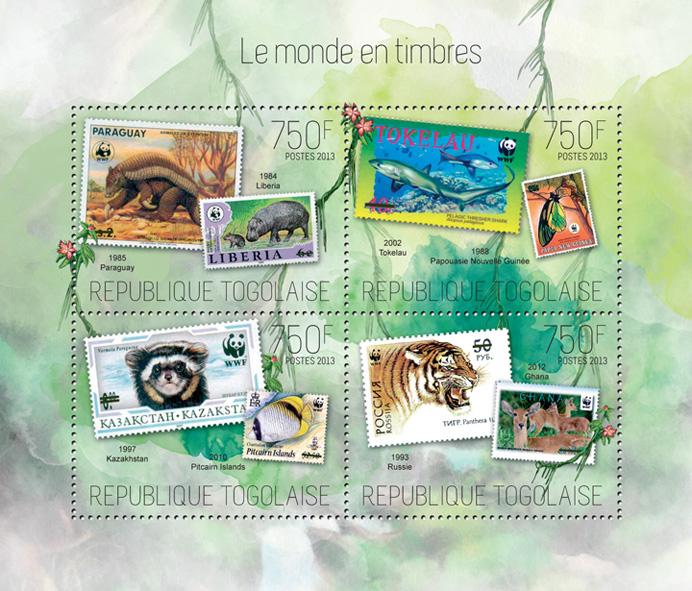 World Stamps - Issue of Togo postage stamps