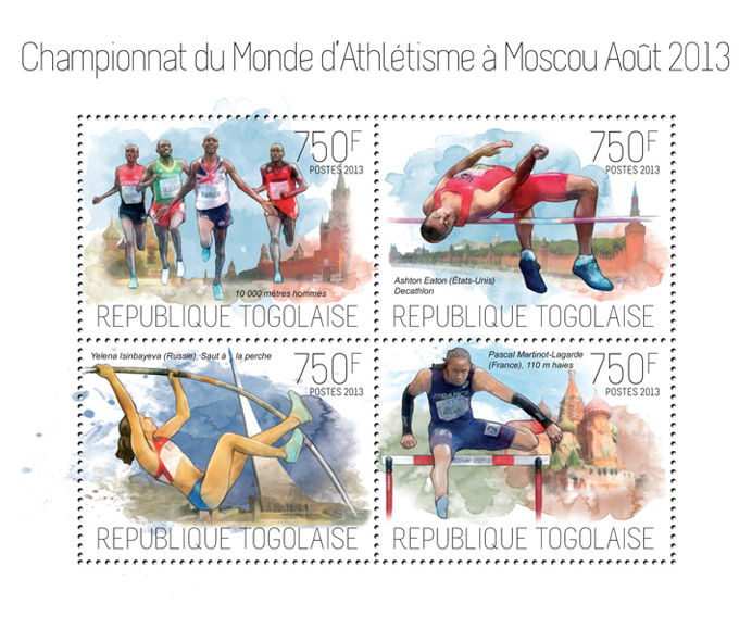 Athletics - Issue of Togo postage stamps
