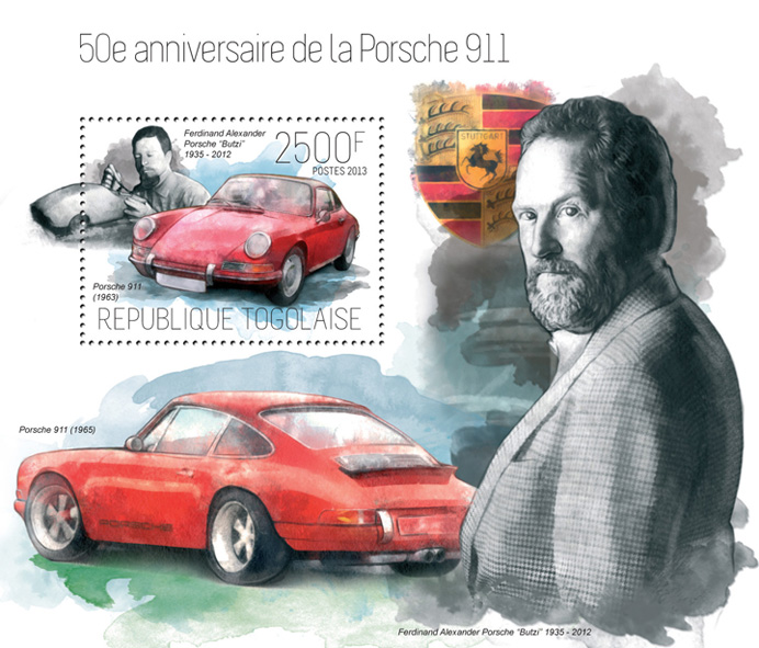Porsche 911 - Issue of Togo postage stamps