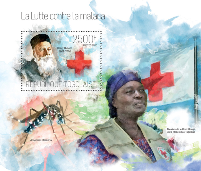 Malaria - Issue of Togo postage stamps