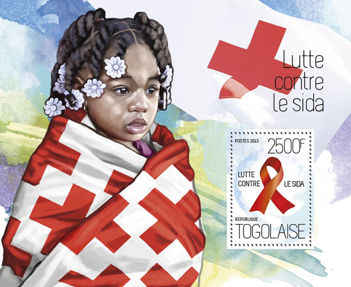 AIDS - Issue of Togo postage stamps
