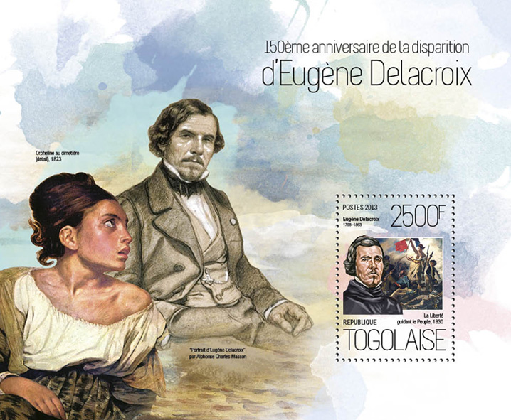 Eugene Delacroix - Issue of Togo postage stamps