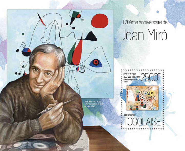 Joan Miro - Issue of Togo postage stamps