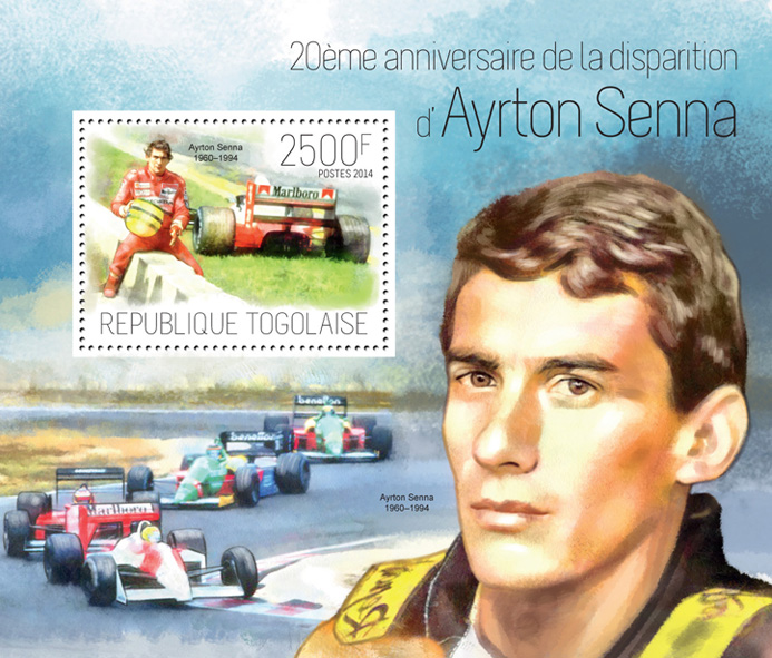 Ayrton Senna - Issue of Togo postage stamps