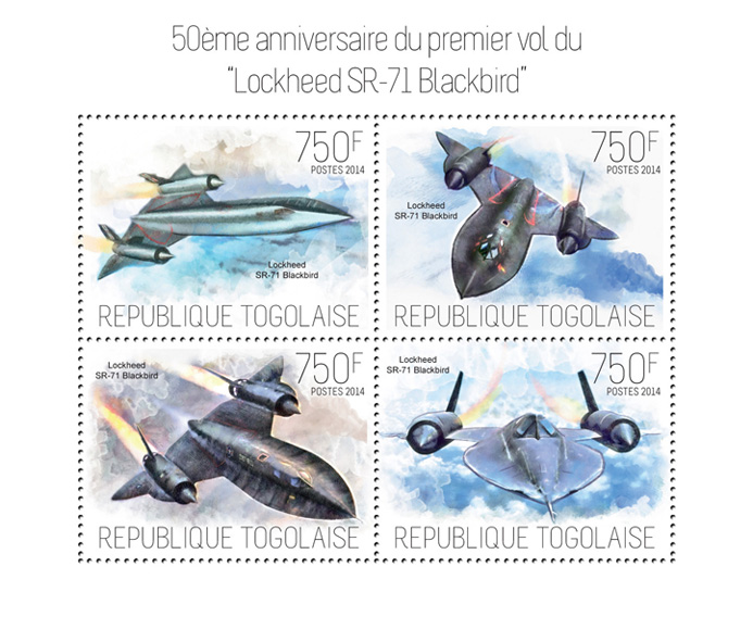 Planes - Issue of Togo postage stamps