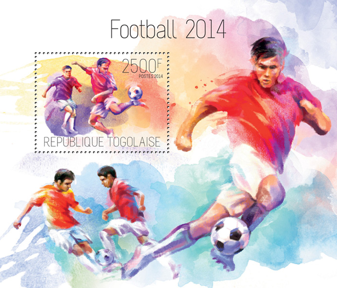Football 2014  - Issue of Togo postage stamps