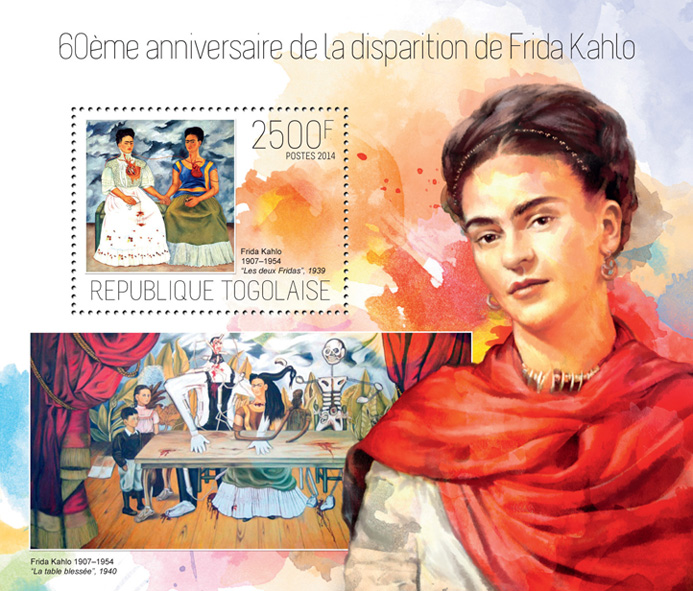 Frida Kahlo - Issue of Togo postage stamps