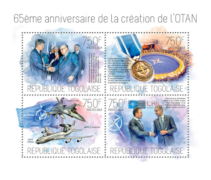 NATO - Issue of Togo postage stamps