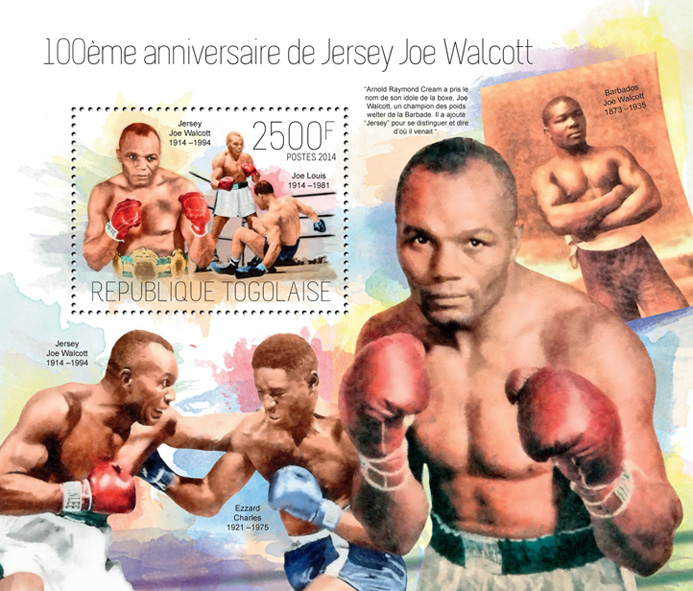 Jersey Joe Walcott - Issue of Togo postage stamps