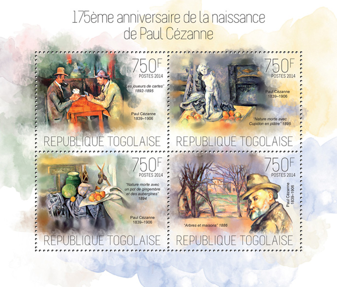 Paul Cezanne - Issue of Togo postage stamps