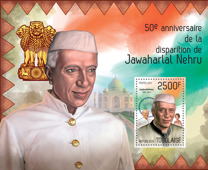 Jawaharlal Nehru - Issue of Togo postage stamps