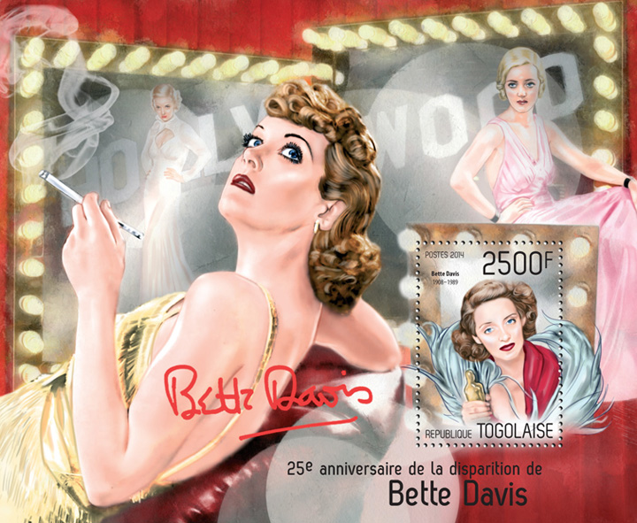 Bette Davis - Issue of Togo postage stamps