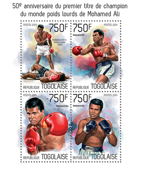 Muhammad Ali - Issue of Togo postage stamps