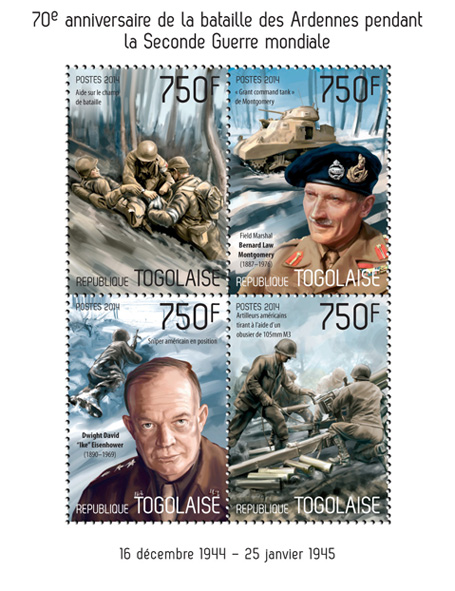 WW II - Issue of Togo postage stamps