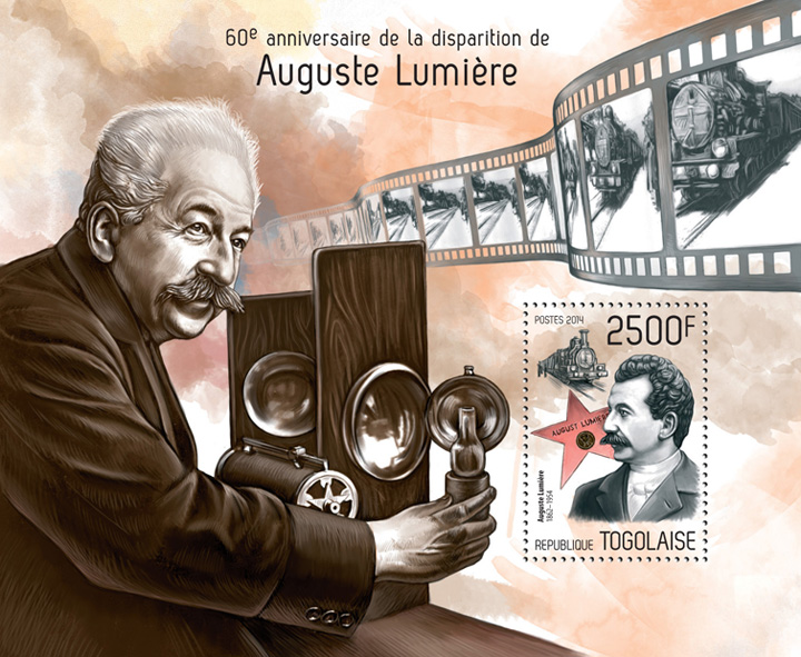 Auguste Lumière - Issue of Togo postage stamps