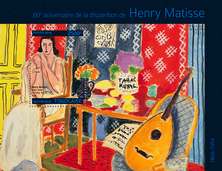 Henry Matisse  - Issue of Togo postage stamps